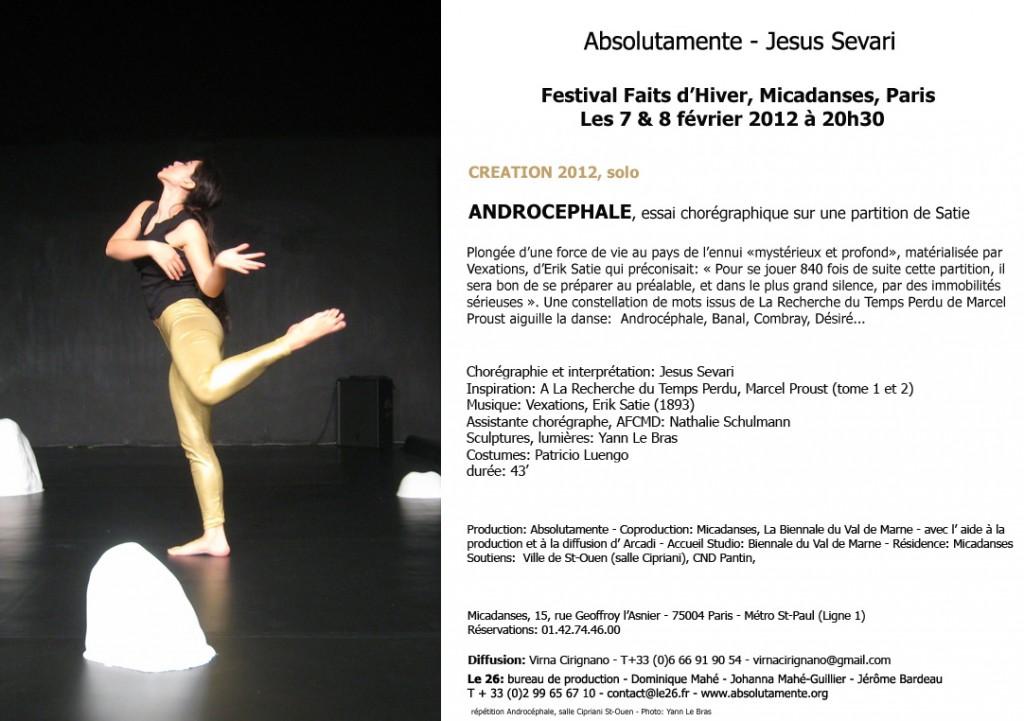 Un solo de danse contemporaine sur 101 Vexations