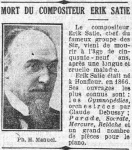 Erik Satie Le Petit Parisien030725